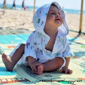 Детская пляжная туника, муслин кактусы