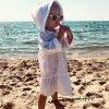 Детская пляжная туника, с оборками