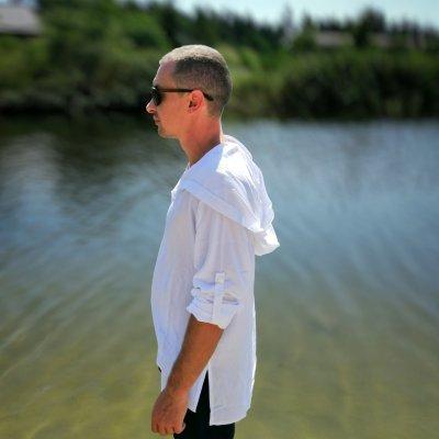 Мужская пляжная туника, белая штапель