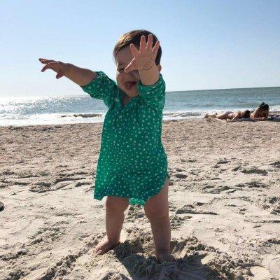 Детская пляжная туника, принт звезды
