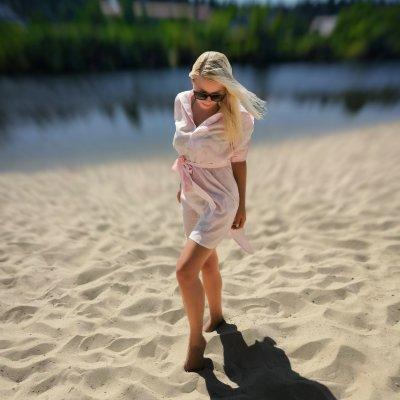 Женская пляжная туника, батист розовый