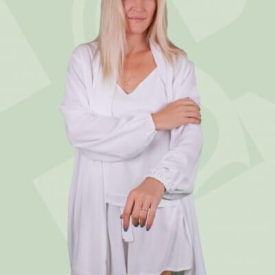 Женский легкий халат белый