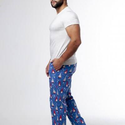 Мужские новогодние пижамные штаны с гномами