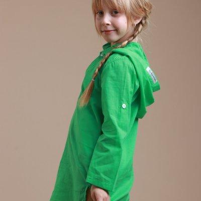 Детская пляжная туника, батист зеленый